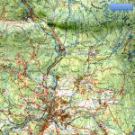Ausschnitt aus der Wanderkarte des Zwieseler Winkels