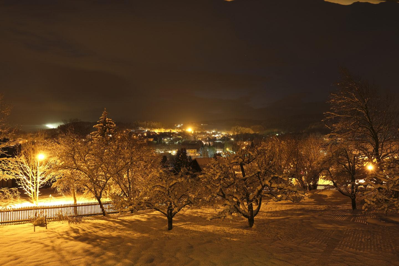 Nach-Schneefotos